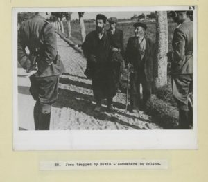 Jews being detained by Nazis in Poland 1939